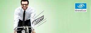 Fahrradfahrer für Essilor TV Kampagne