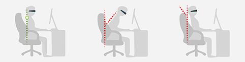 grafik sitzhaltung bildschirmarbeitsplatz