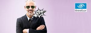 Mann mit Sonnenbrille für Essilor TV Kampagne