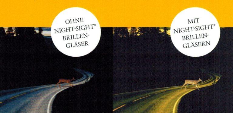 Night Sight Brillengläser bei Nachtkurzsichtigkeit.